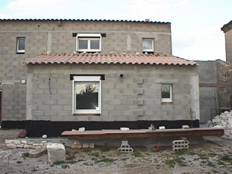 Construction maison en pierres de Godes (84) - 01